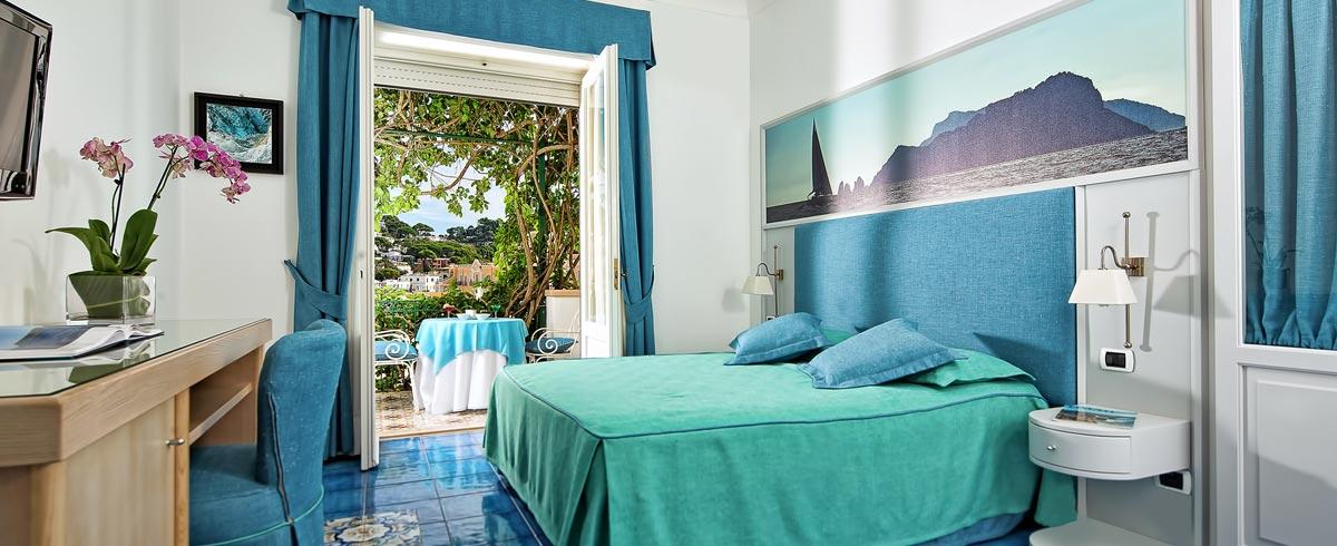 Rooms At Gatto Bianco Hotel In The Center Of Capri Italy